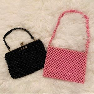2 adorable vintage beaded clutch purses